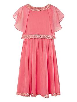 Monsoon Monsoon Girls Meghan Dress - Coral Picture