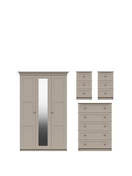 reid-4-piecenbsppart-assemblednbsppackage-3-door-mirrored-wardrobe-5-drawer-chest-and-2-bedside-cabinets