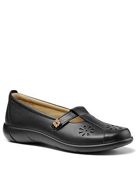 Hotter Hotter Nirvana Ladies Wide Fit T-Bar Shoes - Black Picture
