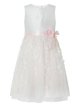 Monsoon Monsoon Girls Eloise 3D Dress - Pale Pink Picture