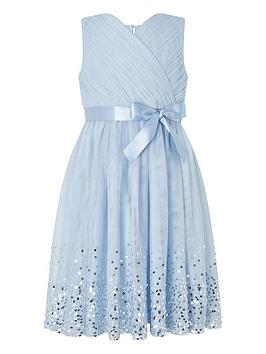 Monsoon Monsoon Girls Lana Ombre Sequin Dress - Blue Picture