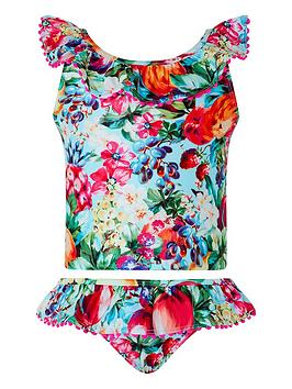 Monsoon Monsoon Girls S.E.W. Berrie Pompom Tankini - Turquoise Picture