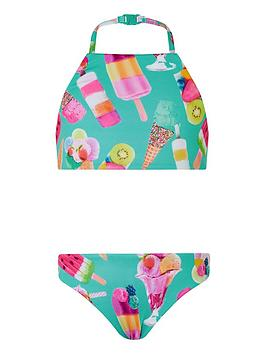 Monsoon Monsoon Girls S.E.W. Sundae Lolly Reversible Bikini - Green Picture