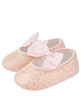 Monsoon Monsoon Baby Girls Leonie Leopard Bootie - Pale Pink Picture