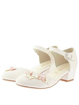 Monsoon Monsoon Girls Lilly Butterfly 2 Part Shoe - Ivory Picture
