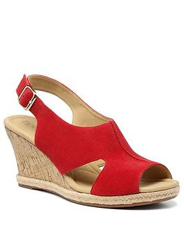 Hotter Hotter Aruba Wedge Sandals - Red Picture