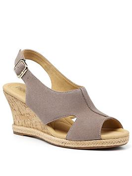 Hotter Hotter Aruba Wedge Sandals - Truffle Picture