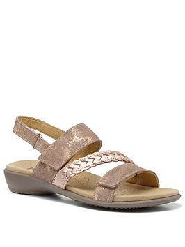 Hotter Hotter Ripple Smart-Casual Strappy Sandals - Rose Gold Picture