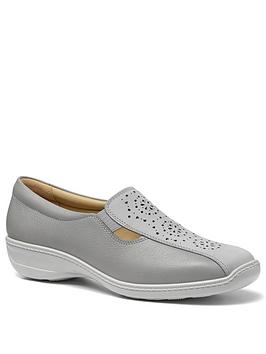 Hotter Hotter Calypso Wide Fit Slip On Flat Shoes - Grey Picture