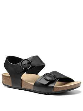 Hotter Hotter Tourist Buckle Footbed Sandals - Black Picture