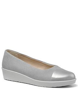 hotter-angel-wedge-ballet-pumps-grey