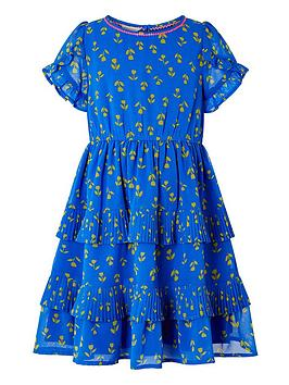 Monsoon Monsoon Girls S.E.W. Aria Tulip Tiered Dress - Blue Picture