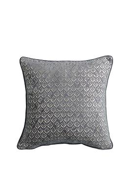 Gallery Gallery Metallic Printed Cushion - Grey Picture