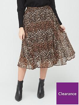 v-by-very-pleated-georgette-skirt-animal-print