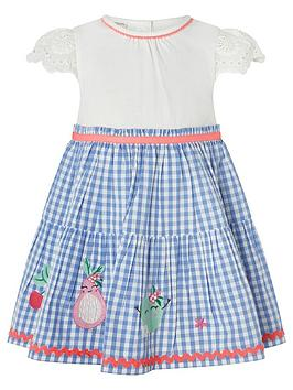 Monsoon Monsoon Baby Girls Molly 2In1 Gingham Dress - Blue Picture