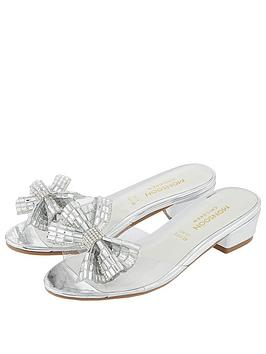 Monsoon Monsoon Girls Princess Dazzle Slipper Sandal - Silver Picture