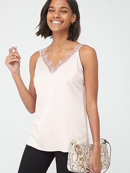 V by Very V By Very Lace Trim Cami - Rose Picture