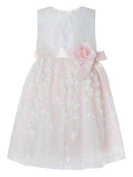 Monsoon Monsoon Baby Girls Eloise 3D Dress - Pale Pink Picture