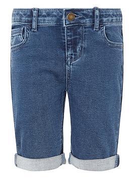 Monsoon Monsoon Girls Daja Denim Shorts - Blue Picture