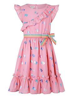 monsoon-girls-unicorn-rainbow-foil-dress-pink