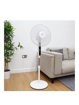 Black & Decker   16 Inch Low Noise Digital Pedestal Fan With Timer And Remote
