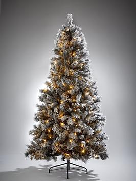 7ft-black-forest-flocked-pre-lit-christmas-tree