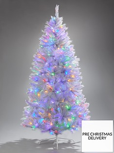 6ft-white-regal-pre-lit-multifunction-dual-colour-led-christmas-tree