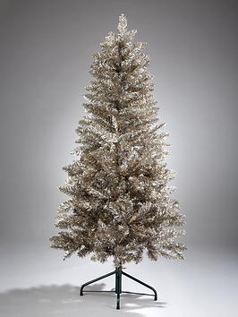 Product photograph showing 6ft Champagne Sparkle Christmas Tree