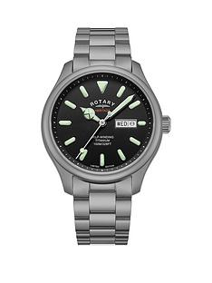 rotary-rotary-heritage-black-and-luminous-daydate-automatic-dial-titanium-bracelet-mens-watch
