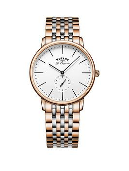 Rotary Rotary Rotary White Dial Rose Gold And Silver Two Tone Stainless  ... Picture