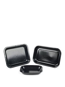 russell-hobbs-romano-vitreous-enamel-3-piece-roaster-set