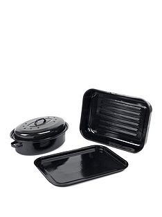 russell-hobbs-romano-vitreous-enamel-deep-roaster-baking-tray-and-self-basting-roaster-with-lid