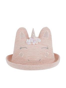 Monsoon   Baby Girls Unicorn Bowler Hat - Pink