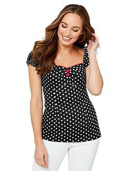joe-browns-polka-dot-vintage-top-black