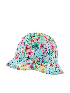 Monsoon Monsoon Baby Girls Amberlie Printed Hat - Multi Picture