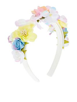 Monsoon Monsoon Girls Spring Bouquet Alice Band - Multi Picture