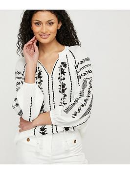 Monsoon Monsoon Sienna Embroidered Top - Ivory Picture