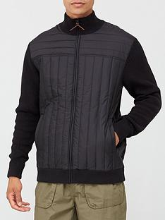 very-man-quilted-zip-through-knit-jacketnbsp--black