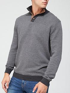 very-man-herringbone-funnel-neck-jumper-grey