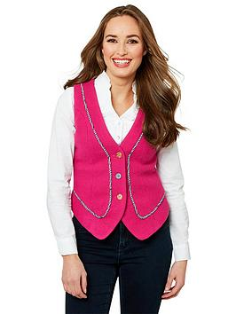 Joe Browns Joe Browns Funky Fuchsia Waistcoat - Fuchsia Picture
