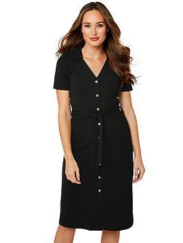 Joe Browns Joe Browns Versatile Ribbed Dress - Black Picture