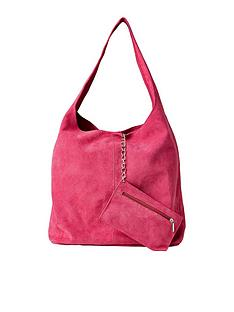 joe-browns-bella-boho-suede-bag-with-purse-pink