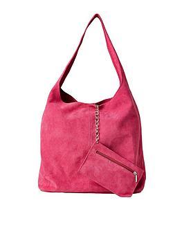 Joe Browns Joe Browns Bella Boho Suede Bag With Purse - Pink Picture