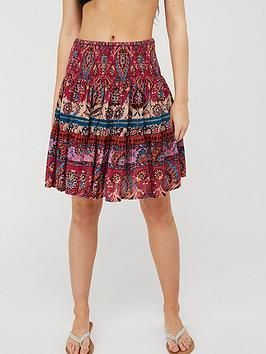 Monsoon Monsoon Tamalia Print Sustainable Skirt - Pink Picture