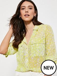 mint-velvet-hermione-print-blouse-green