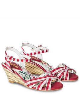 Joe Browns Joe Browns American Diner Wedge Sandals - Red Picture