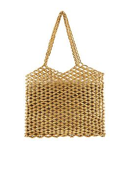 Monsoon Monsoon Wren Wooden Beaded Tote Bag - Natural Picture