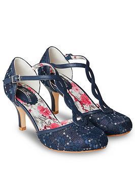 Joe Browns Joe Browns Moonlit Lace T-Bar Shoes - Navy Picture
