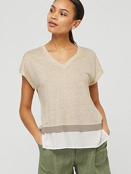 Monsoon Monsoon Wallace Linen T-Shirt - Stone Picture