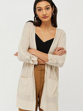 Monsoon Monsoon Carrie Linen Woven Cover Up - Stone Picture